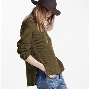 Madewell Tracklist Sweater Side Zip Pullover Knit